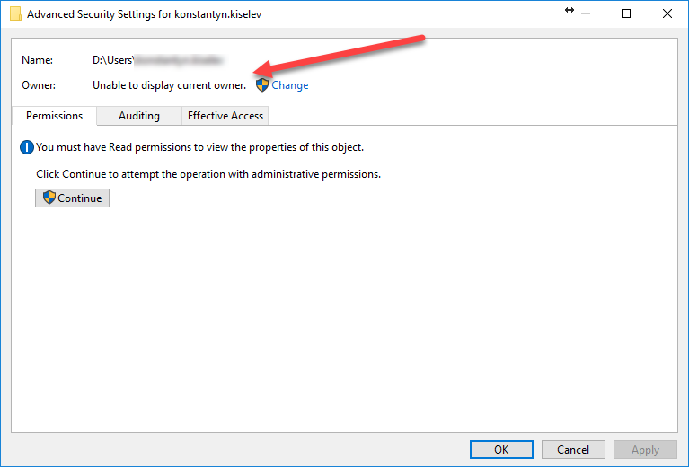 Windows 10: You don't currently have permission to access