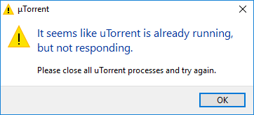 utorrent error write to disk the process cannot access the file