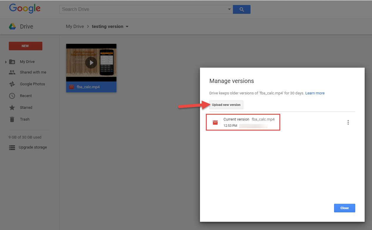 Google Drive: Using file versions - HiTech Service