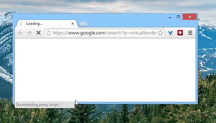 Google Chrome Slowness: Downloading Proxy Script - HiTech