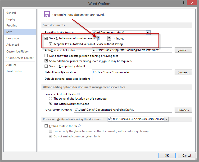 how to recover office files