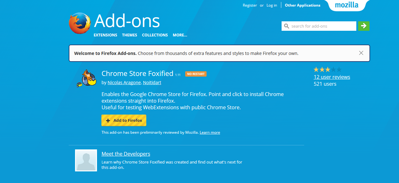 Top Five Chrome Store Foxified Download - Circus