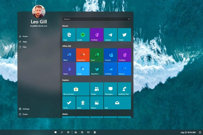 Lite OS start menu